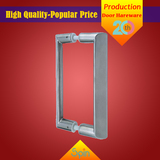 304 Stainless steel solid glass door pull handle for exclusive shops