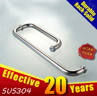 Tube SUS304 stainless steel shower glass handle Handrail/ sliding glass door handle of bathrooms大门拉手