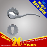 AISI SUS304 stainless steel solid casting lever door handle for interior doors room lock/indoor hand