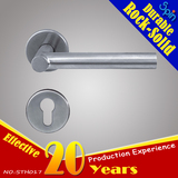 steel tube T-bar lever door handle for indoors room lock,similar the Model STH008
