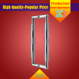 AISI 304 stainless steel door handle surface treatment sand and mirror two-color