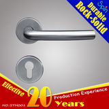 cheap tube bend lever door handle for interior doors room lock supplier
