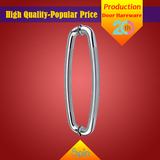 Custom-made stainless steel U-shaped glass pull handle picture