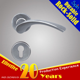 Building hardware 304stainless steel solid cast lever door handle for interior doors room lock