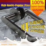 NEW!304Stainless steel cast lever door handle for interior doors room lock