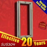 Hardware to door for SUS304 stainless steel Rectangular square of frameless glass door handle/