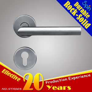 stainless steel tube L-shape wood door handle lever door handle for interior doors room lock for 304