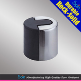 Column-shaped solid stainless steel door stop for five-star hotel