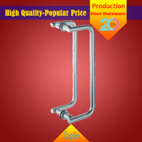 Chinese supplier provides high quality stainless steel double handle glass door pull handle