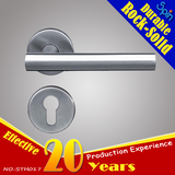 T-bar steel door handle for interior door room lock