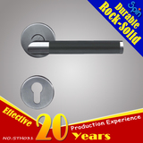 Art L-shape tube lever handle with leather Italian style