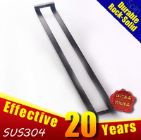 SUS304 stainless steel Four bending of rectangular square frameless glass door handle玻璃不锈钢大门拉手