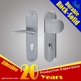 Chinese supplier produces cheap stainless steel door knob handle with plate