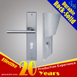 Fan-shaped stainless steel door handle with panel for villa door